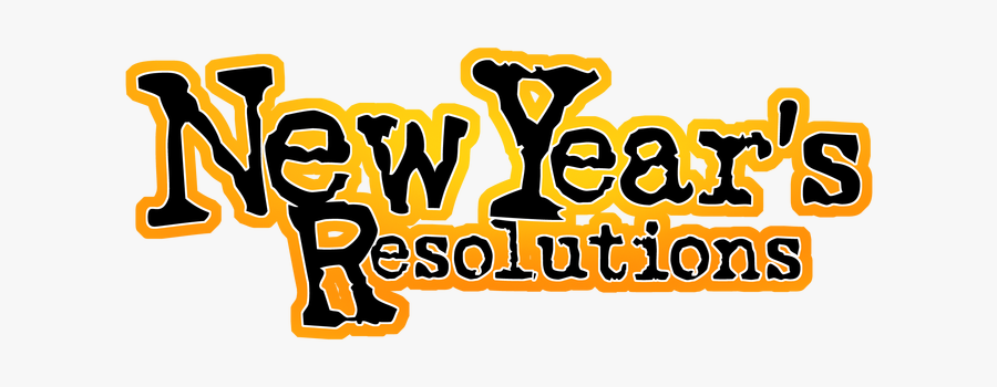 New Year Resolution Png - New Year Resolution Text, Transparent Clipart