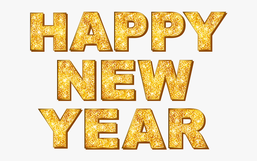 New Year Png - Happy New Year Word Art, Transparent Clipart