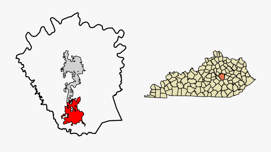 Madison County Kentucky Incorporated And Unincorporated - Map Of Kentucky, Transparent Clipart