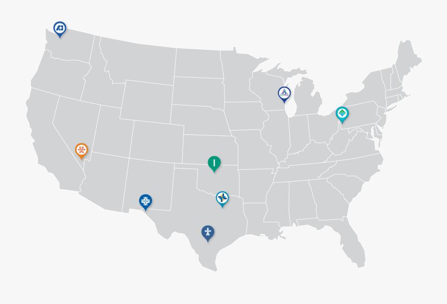 Grassland In Usa Map, Transparent Clipart