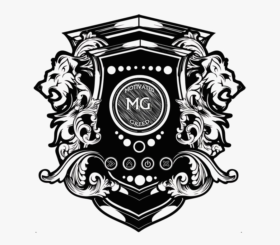 Emblem,line Design,graphics,black And White,style,clip - Transparent Lion Crest Png, Transparent Clipart