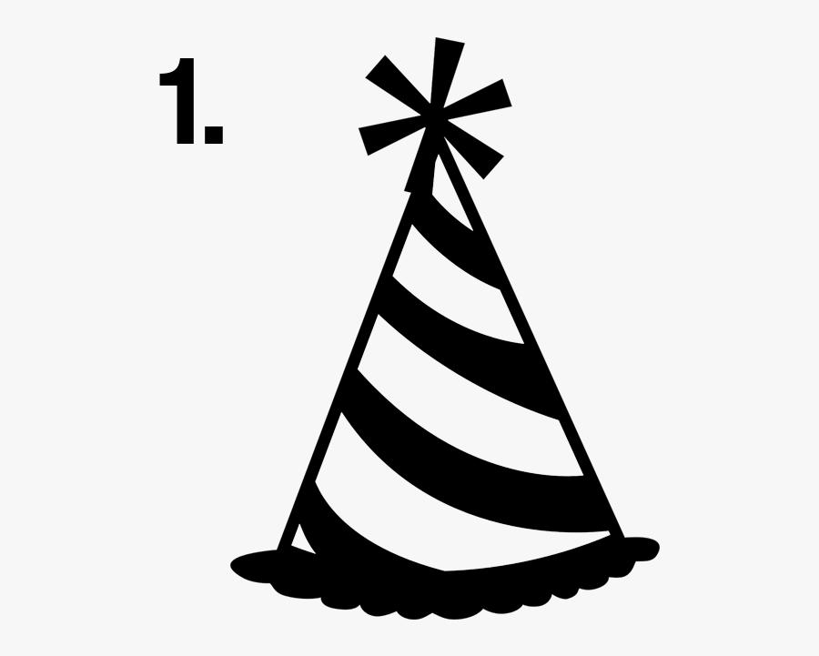 Party Hat Clip Art - Party Hat Transparent Background, Transparent Clipart