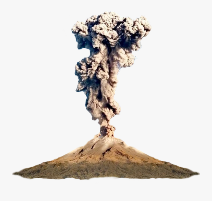 #volcano #eruption #nature #realistic #smokecloud awesome - Tree, Transparent Clipart