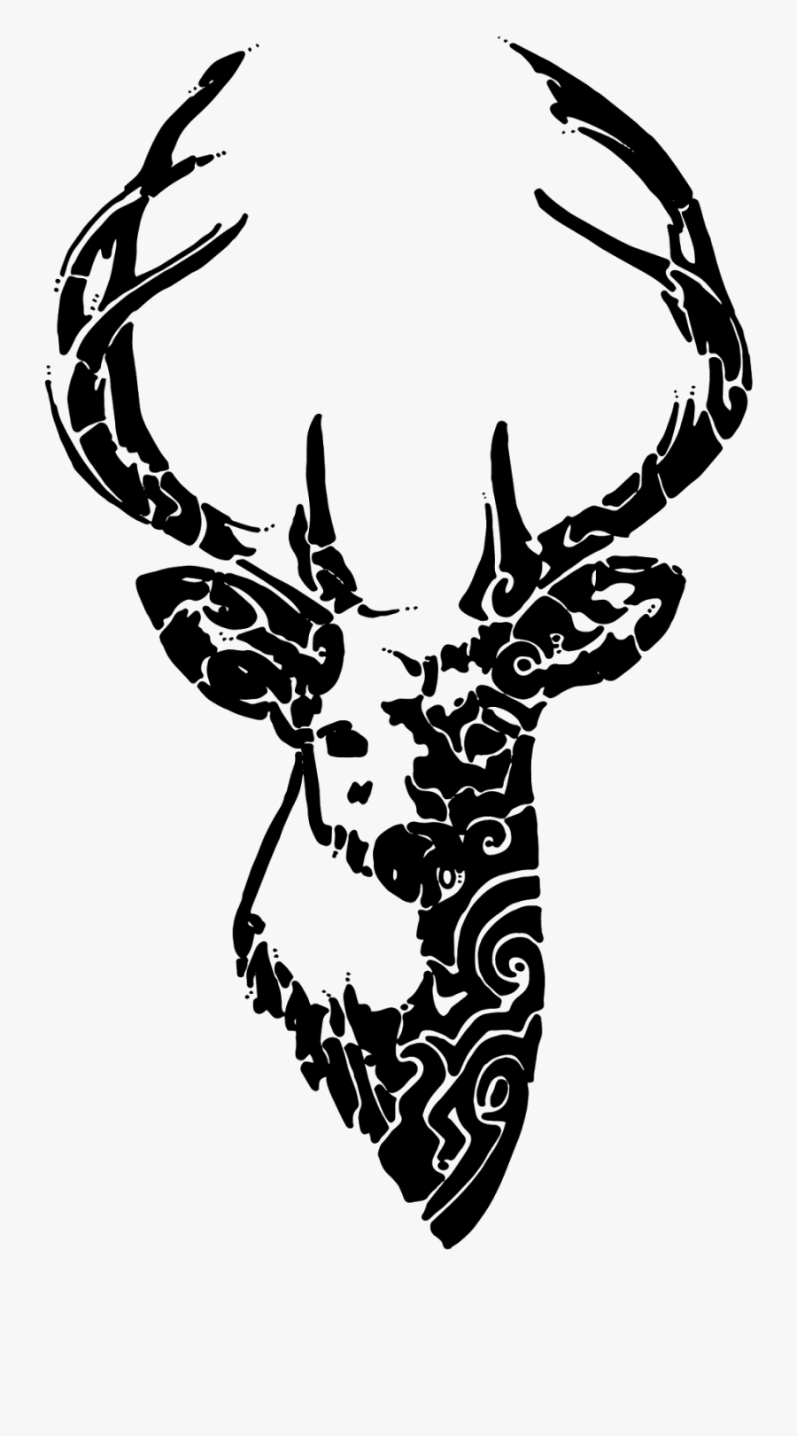 Deer Bacup Cricket Club Paper Sticker Decal - Deer Drawing On Cake, Transparent Clipart