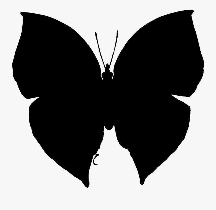 Brush-footed Butterflies Clip Art Silhouette Neck Black - Swallowtail Butterfly, Transparent Clipart