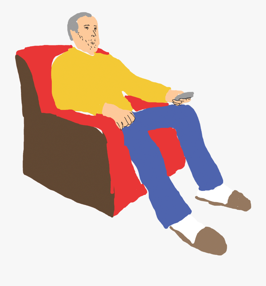 Image Freeuse Stock Sofa Clipart Old People - Sitting, Transparent Clipart