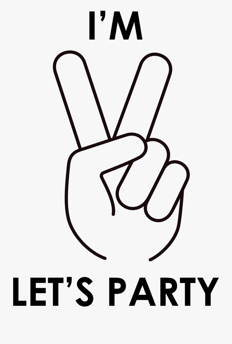 """Let""""s Party Png Vector Royalty Free - Im 2 Lets Party Logo, Transparent Clipart"""