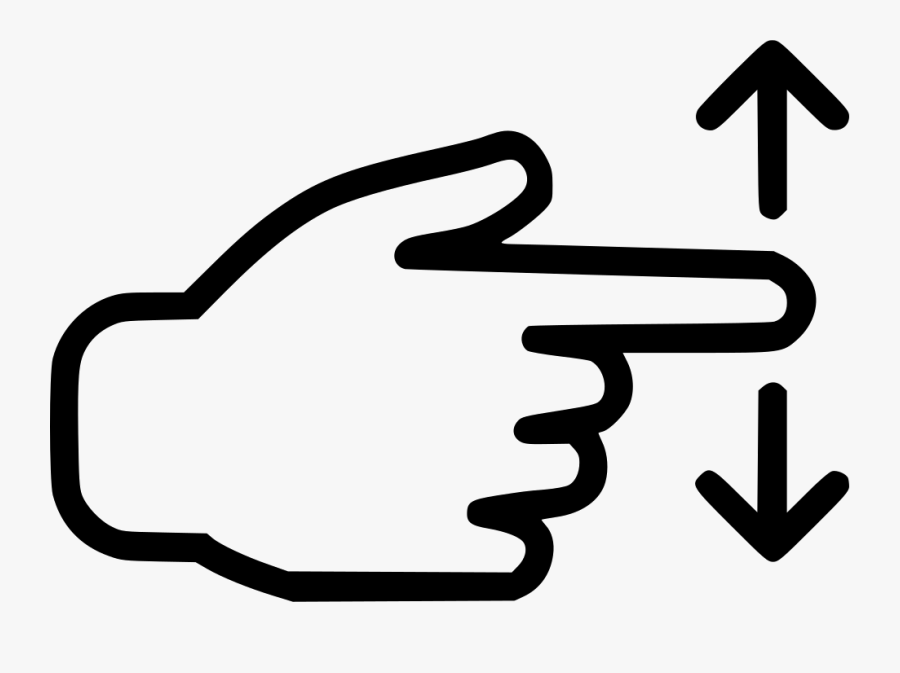 Finger Point Icon Png Clipart , Png Download - Pointing Finger Clipart Black And White, Transparent Clipart