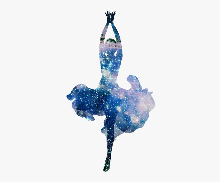 #galaxy #ballerina #dancing #ballet #girl #woman #dance - Dancer Silhouette Blue Transparent Background, Transparent Clipart
