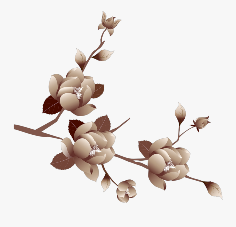 Transparent Brown Flower Png - Transparent Background Purple Flowers Clipart, Transparent Clipart