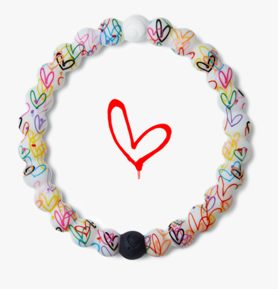 Lokai Bracelet With Hearts, Transparent Clipart