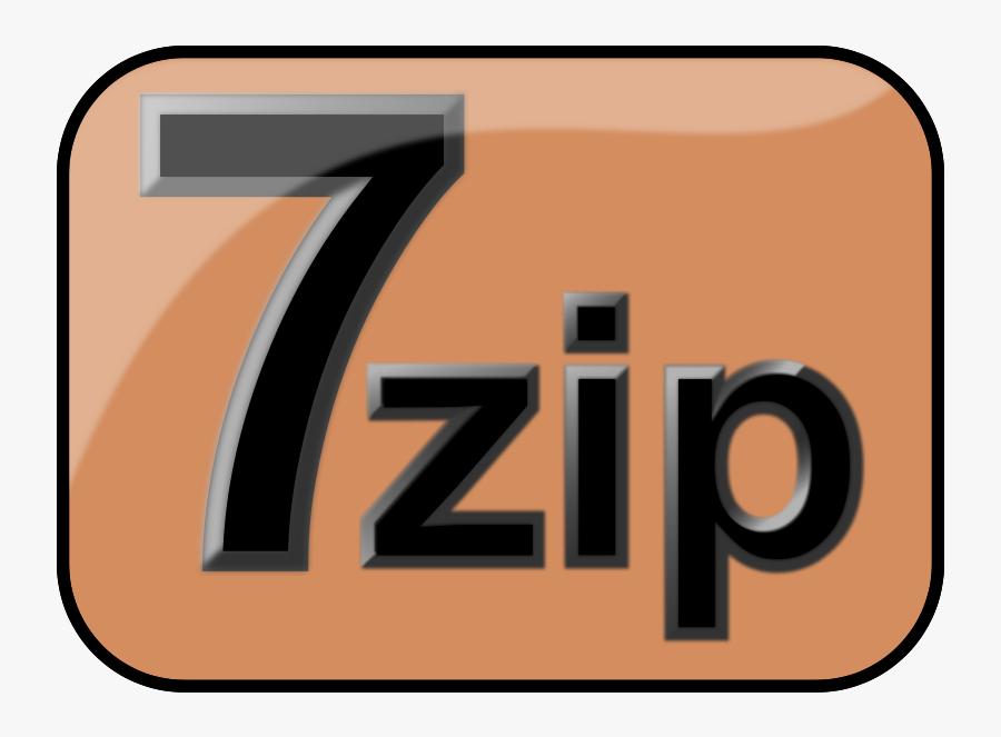 "Free Clip Art ""7zip Glossy Extrude Brown - 7-zip, Transparent Clipart"