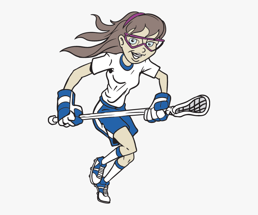 Youth Girls Summer Lacrosse Camp - Playing Lacrosse Clipart Girl, Transparent Clipart