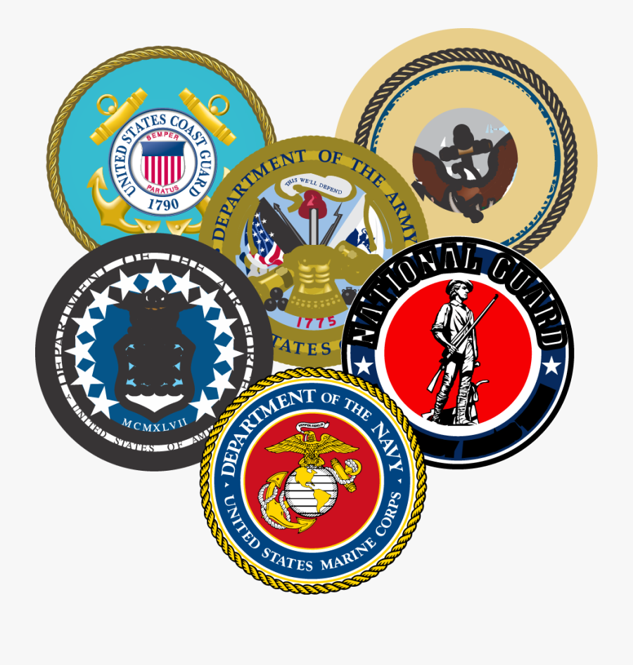 Military Seals Grouped - Marine Corps, Transparent Clipart