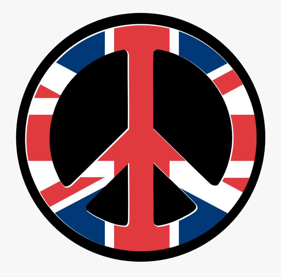 Uk Flag Peace Symbol Wordpress Peacesymbol - Flag Of The United Kingdom, Transparent Clipart