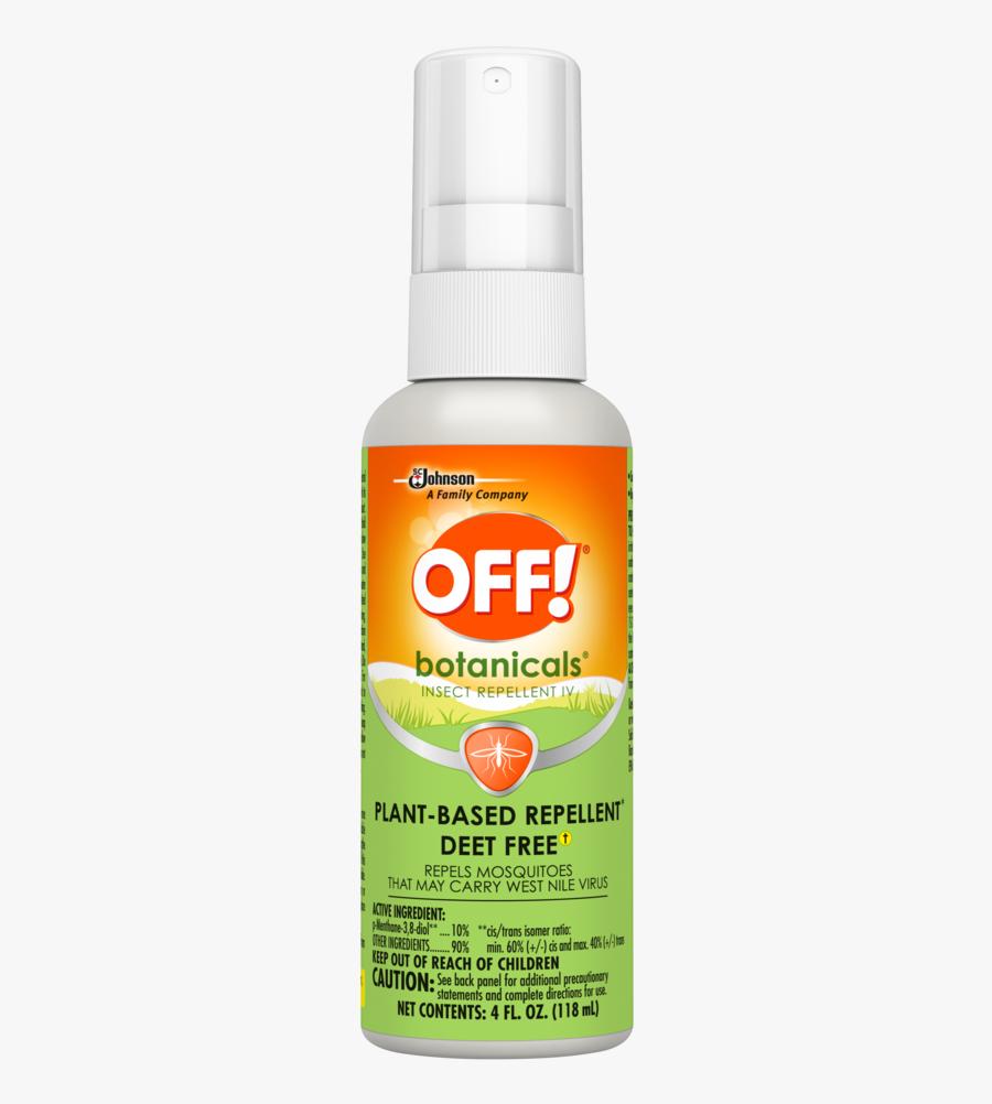 Off Natural Bug Spray, Transparent Clipart