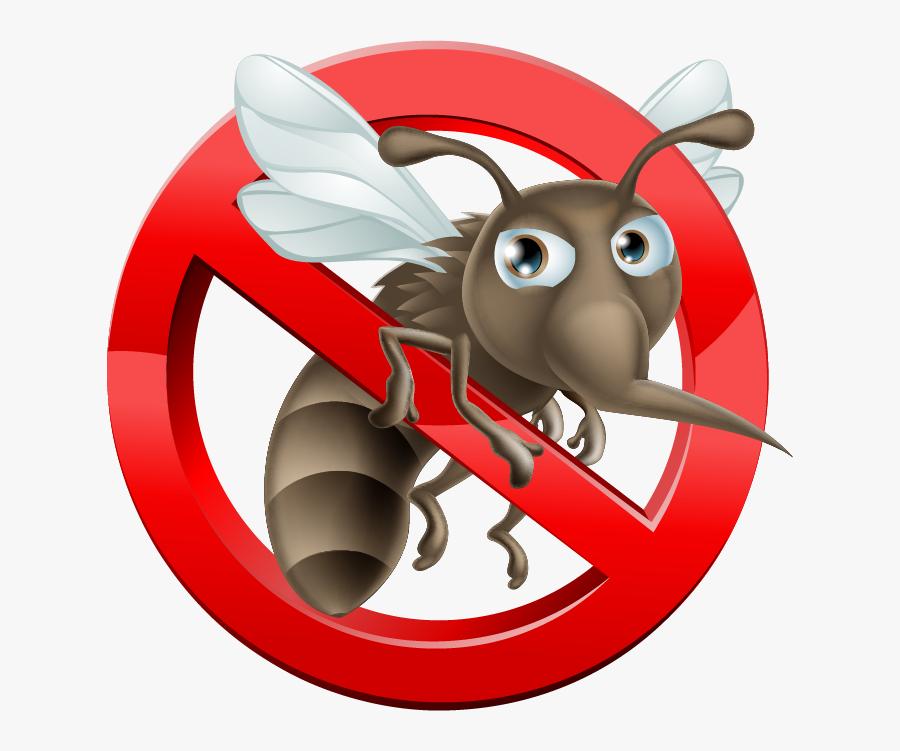 No Mosquito Sign, Transparent Clipart