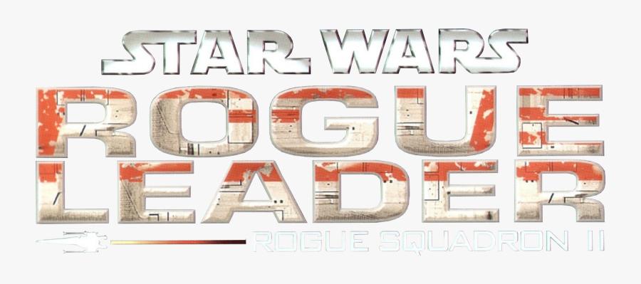 Transparent Rogue One Clipart - Star Wars Rogue Leader Rogue Squadron Ii Logo, Transparent Clipart