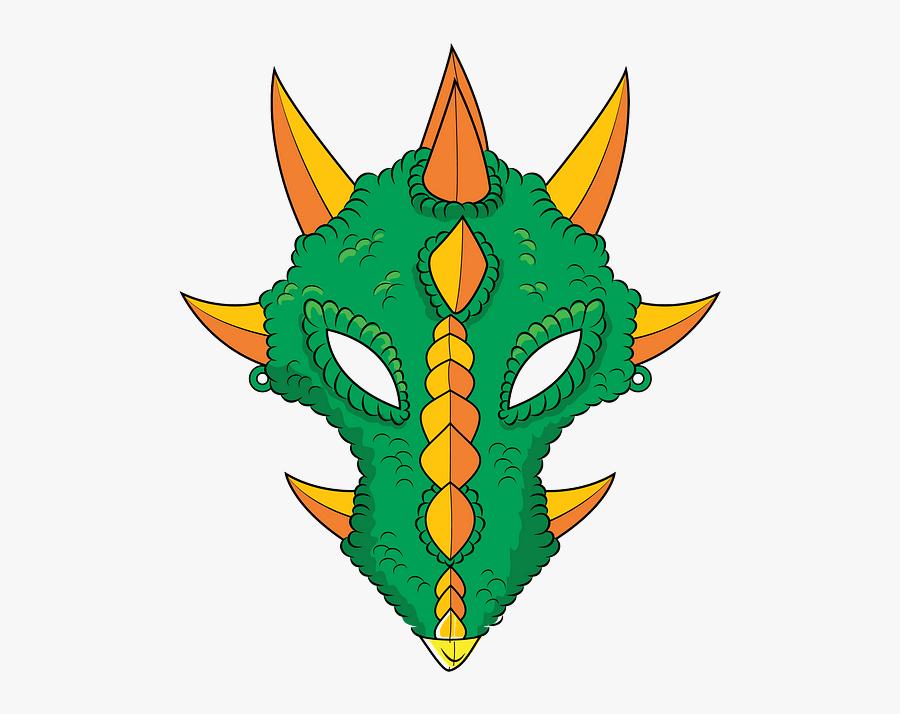 Mascara De Dragon Plantilla, Transparent Clipart