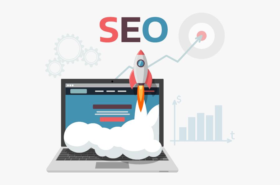 Illustration Of Onpage Seo - Search Engine Optimization Cartoon, Transparent Clipart