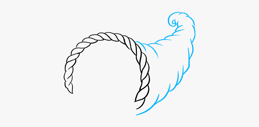 How To Draw Cornucopia - Step By Step Cornucopia Drawing Easy, Transparent Clipart