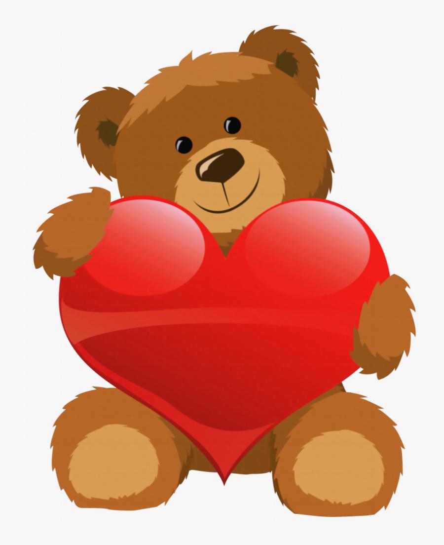 Download Teddy Bear Clip Art - Teddy Bear With Heart Clipart, Transparent Clipart