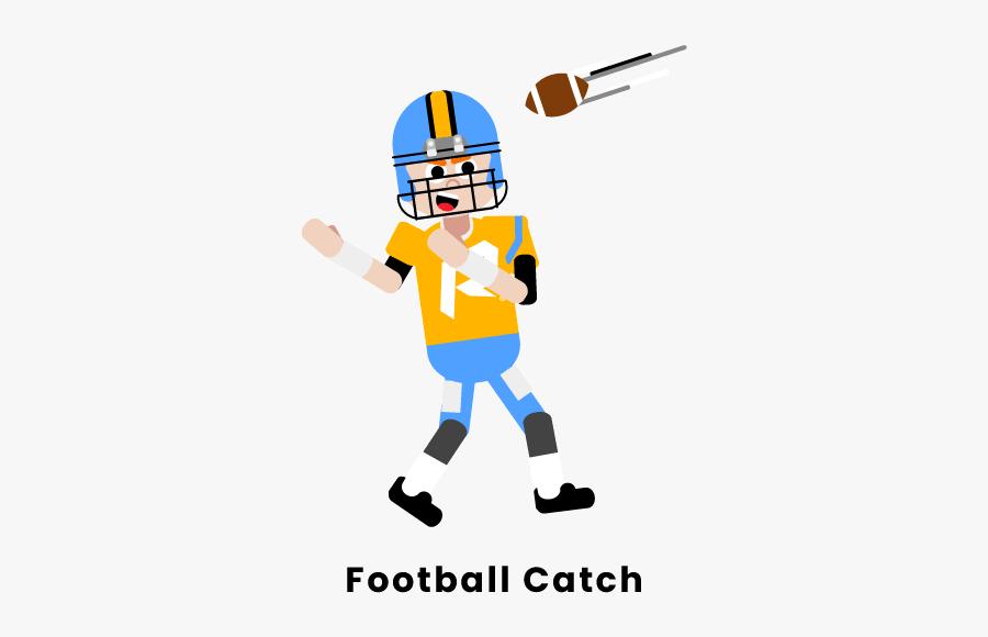 Football Catch - Cartoon, Transparent Clipart