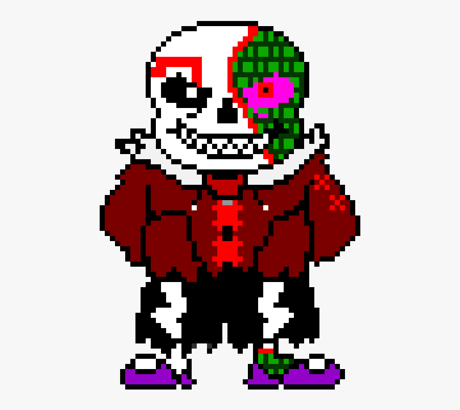 Underfell Sans Battle Sprite, Transparent Clipart