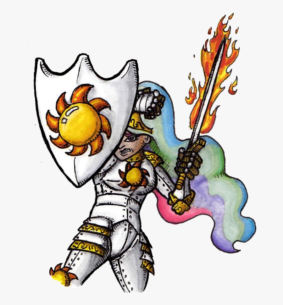 Pm, Fantasy Class, Fire, Humanized, Knight, Princess - Cartoon, Transparent Clipart