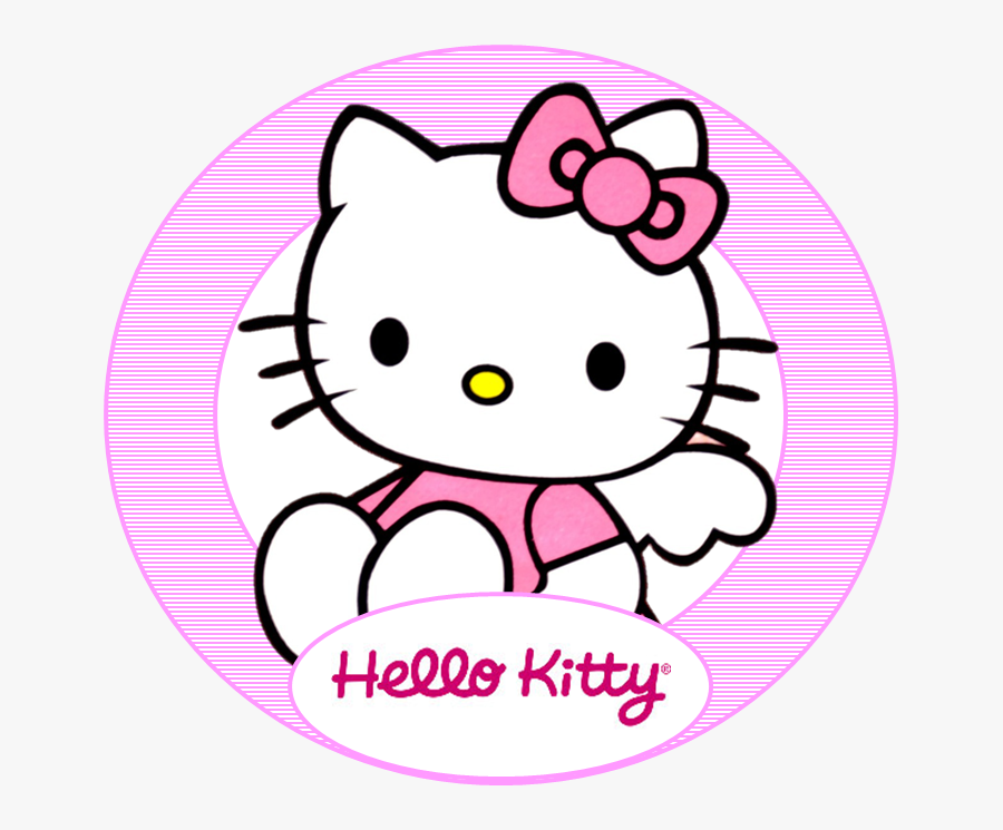 Hello Kitty In Circle, Transparent Clipart