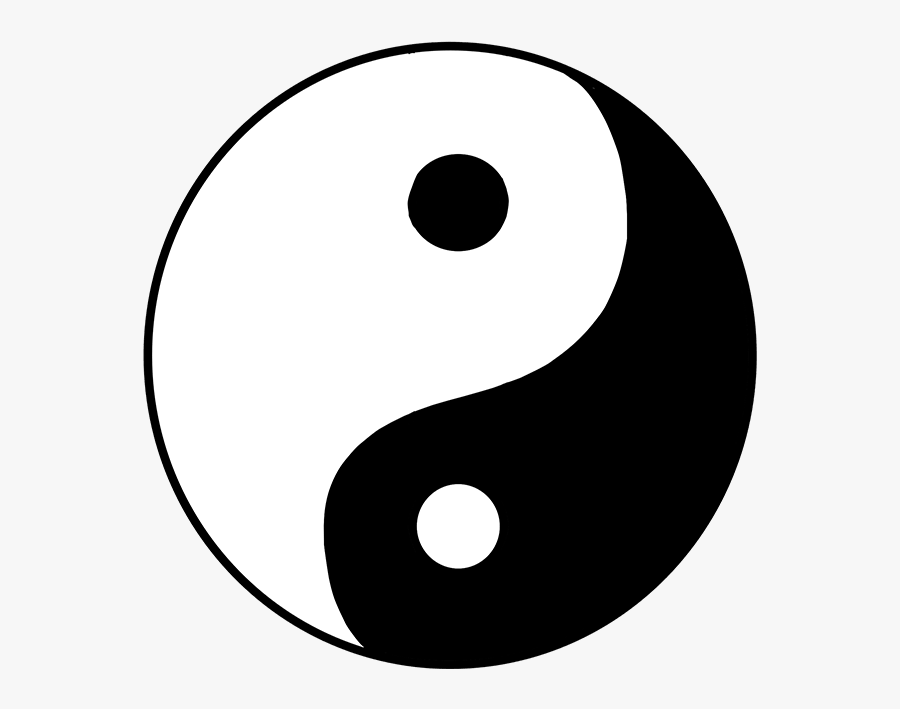 How To Draw Yin Yang Symbol - Drawing Yin And Yang, Transparent Clipart