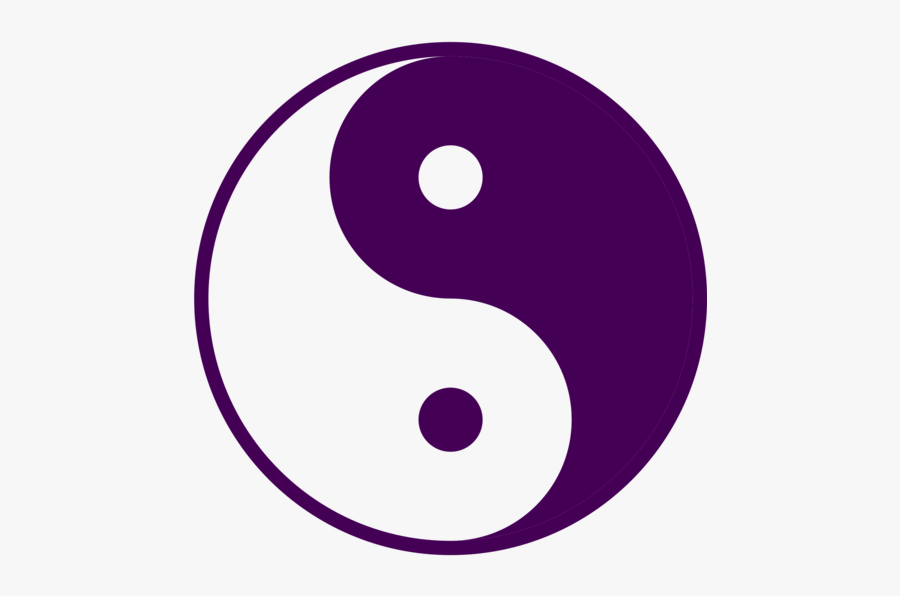 Area,purple,text - Yin And Yang Purple, Transparent Clipart