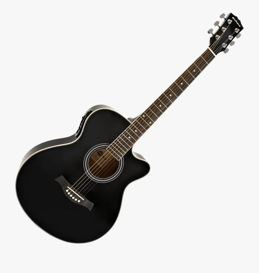 Black Acoustic Electric Transparent - Guitar Png Full Hd, Transparent Clipart