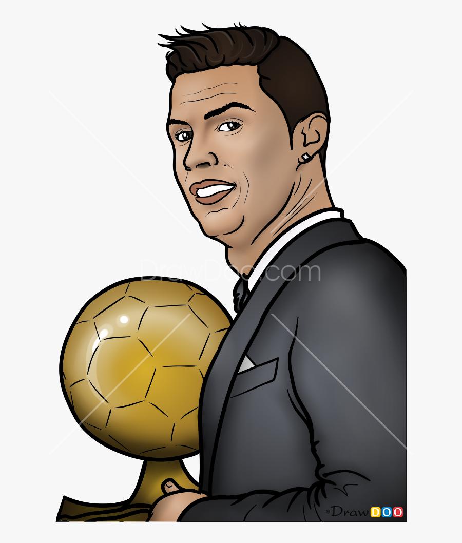 Cristiano Ronaldo Cartoon Drawing Free Transparent Clipart Clipartkey