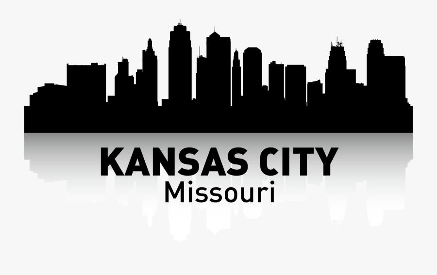 Kansas City Skyline Silhouette Poster - City Skyline Silhouette Kansas City Png Transparent, Transparent Clipart