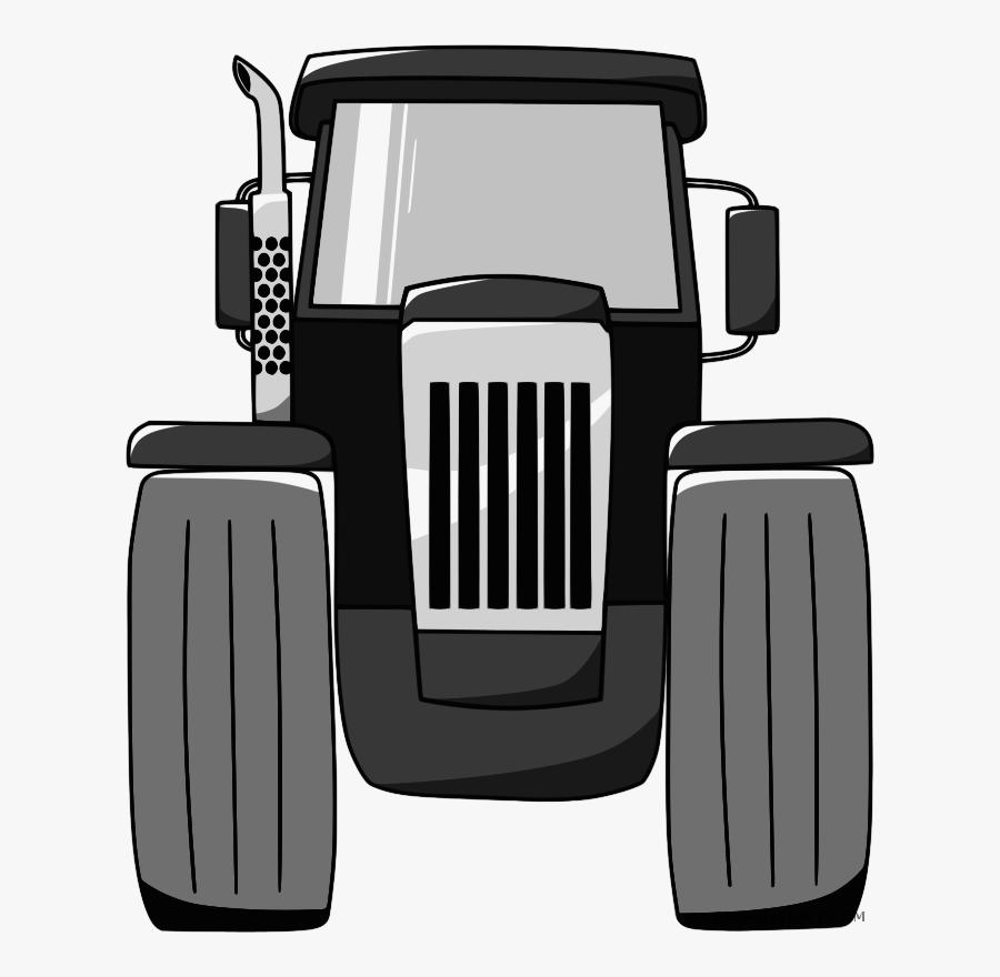 Transparent Farm Clip Art - Tractor Front View Png, Transparent Clipart