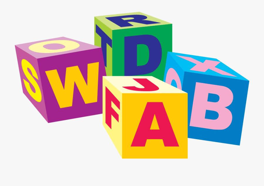 Baby Toy Letter Cubes, Transparent Clipart