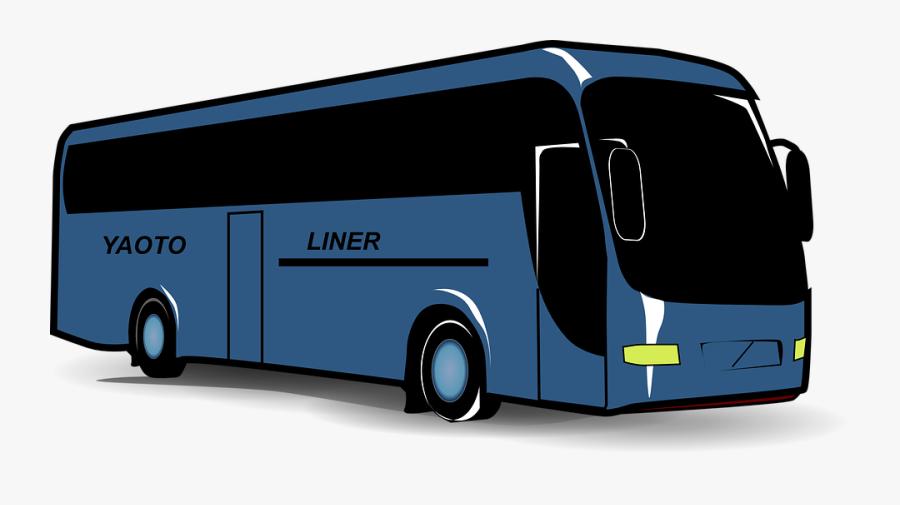 Tour Bus Clip Art, Transparent Clipart