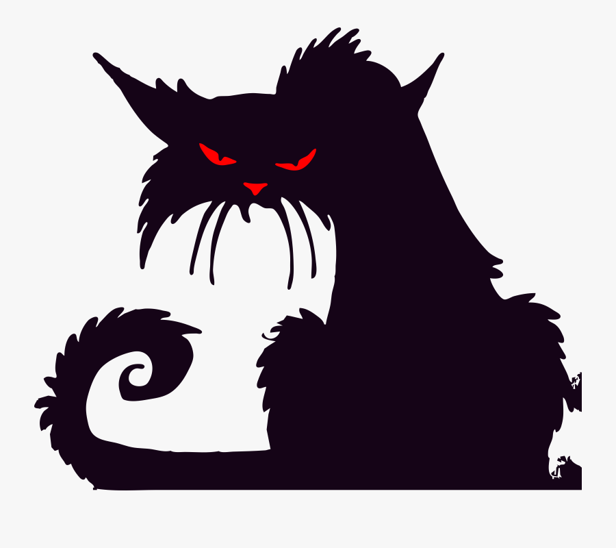 Halloween Cat Silhouettes, Transparent Clipart