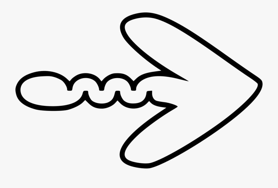 Wiggle - Wiggle Arrow, Transparent Clipart