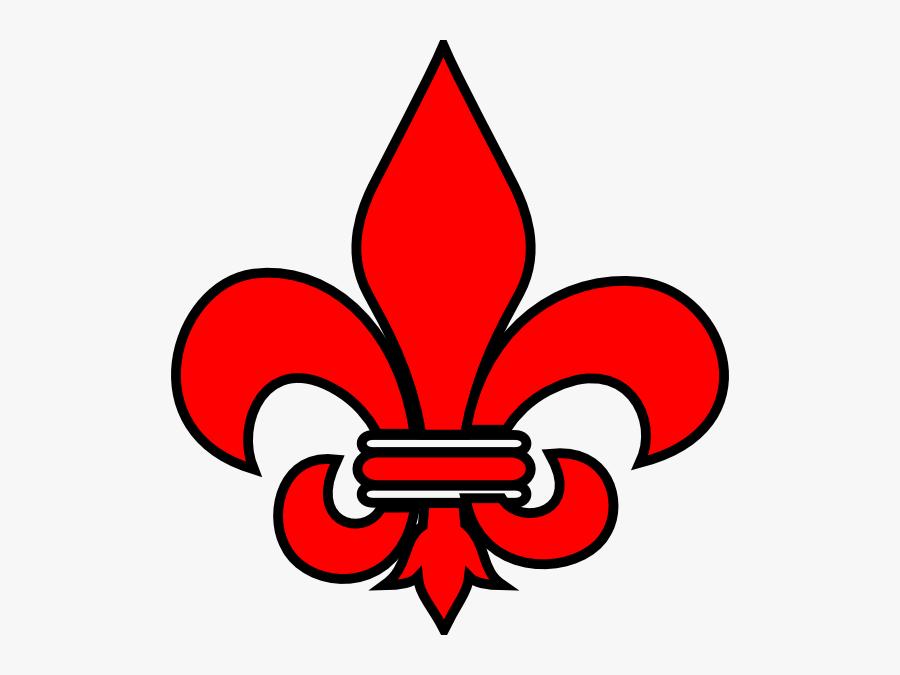 Red Fleur De Lys, Transparent Clipart