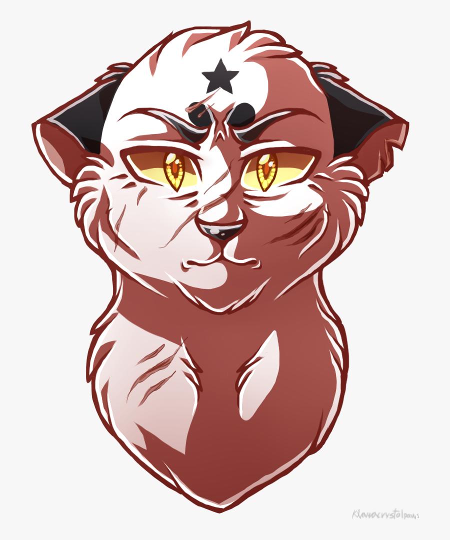 Warriors Cat Blackstar Leafpool Drawing - Warrior Cats Drawing Face, Transparent Clipart