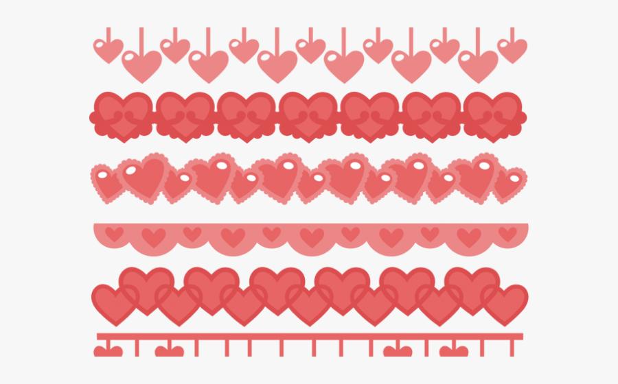 Transparent Pink Heart Clipart Border - Scalable Vector Graphics, Transparent Clipart