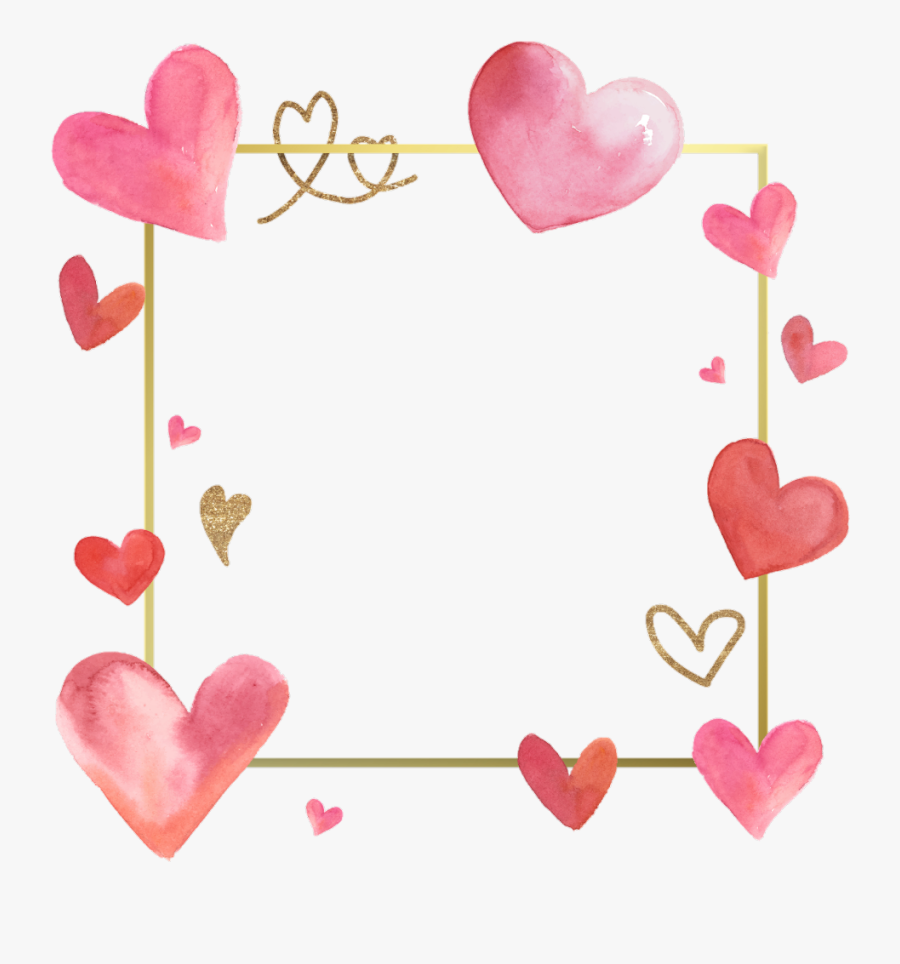 #love #frames #frame #borders #border #hearts #heart - Valentine Day Frame Coloring Pages, Transparent Clipart