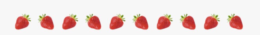 #red #aesthetic #strawberries #strawberry #border #kpop - Overlay Aesthetic Border, Transparent Clipart