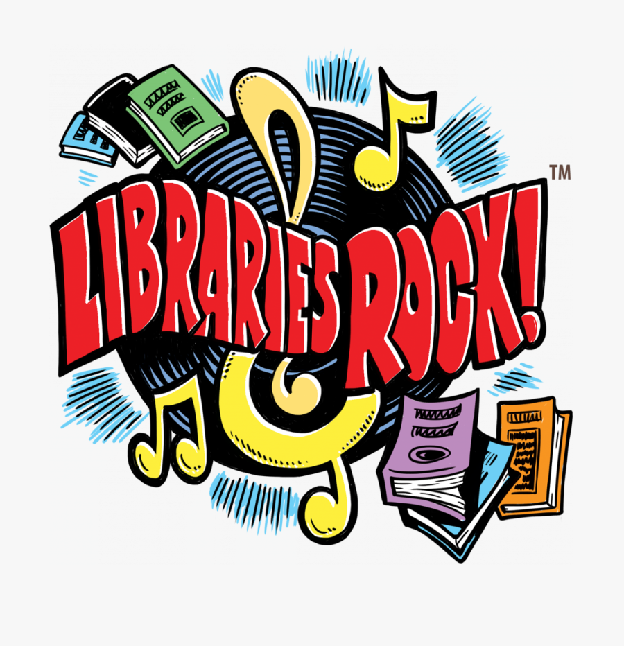 Libraries Rock Slogan, Books, Vinyl Record, Musical - 2018 Summer Reading Program, Transparent Clipart