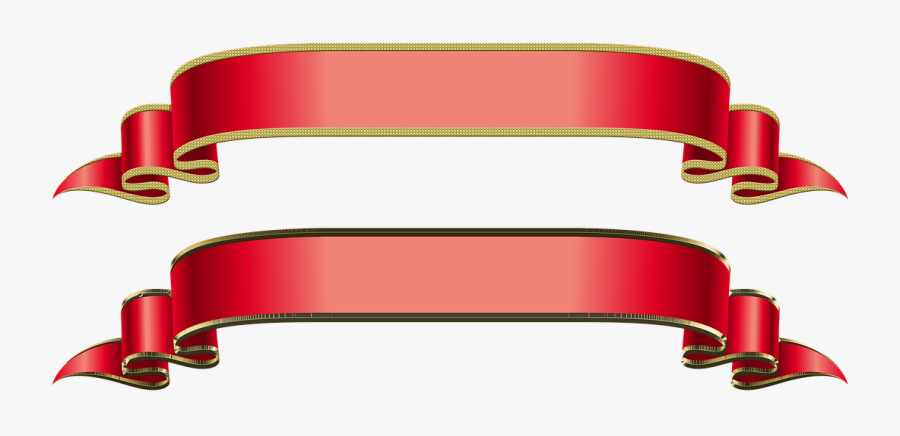 Banner Bands Band Free Photo - Gold Banner Ribbon Vector Png, Transparent Clipart