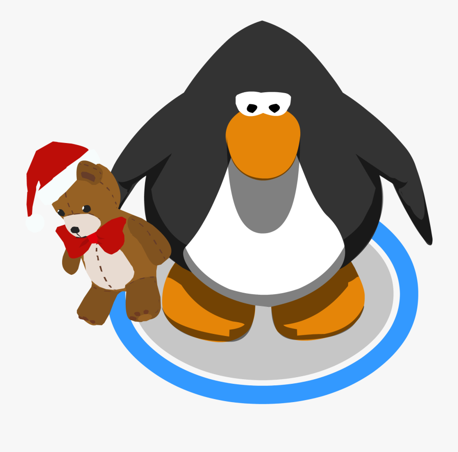 Holiday Teddy Ingame - Club Penguin Penguin Model, Transparent Clipart