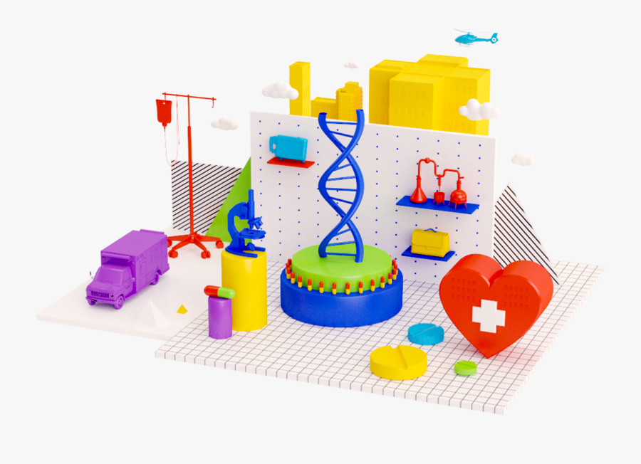 Healthcare Illustration By Pinch Studio - Construction Set Toy, Transparent Clipart