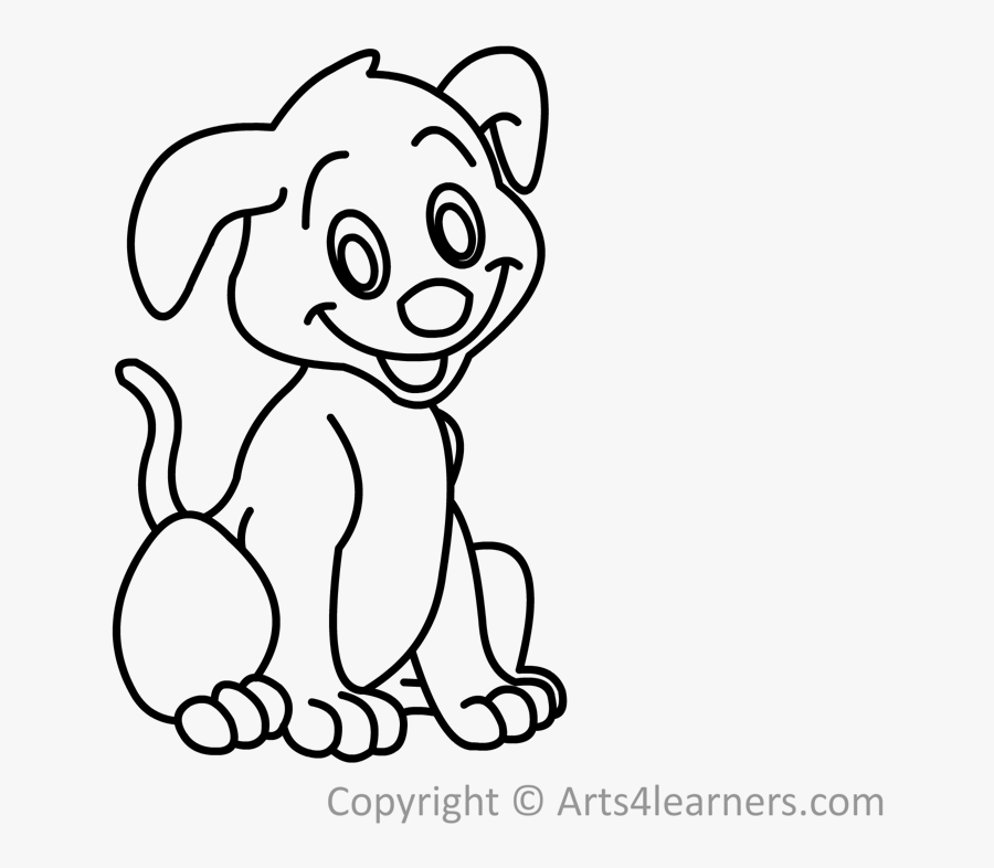 How To Draw A Puppy - Cartoon, Transparent Clipart